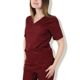 Bluza medicala cu 3 buzunare aplicate - GRENA