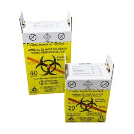 Cutii de carton, pentru deseuri anatomo- patologice 40 L