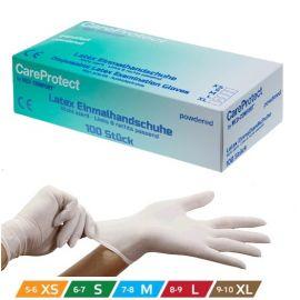Manusi de examinare latex Pudrate Care Protect